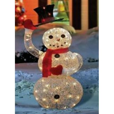 46 silver seqhined lighted animated snowman with top hat outdoor christmas yard art decoration