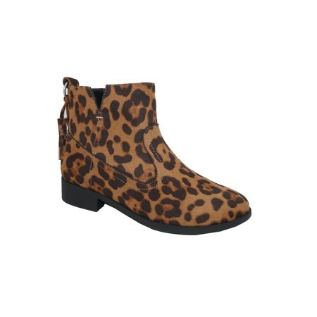 Wonder Nation Lucky Leopard Ankle Boot (Little Girls & Big
