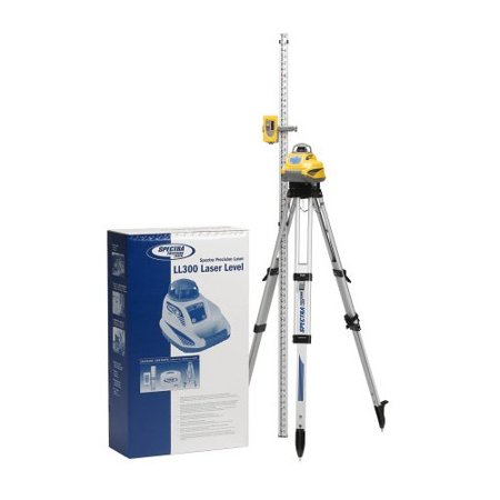Spectra Precision LL300N-2 Self-Leveling Laser Level with 10 ft. Grade Rod and Tripod