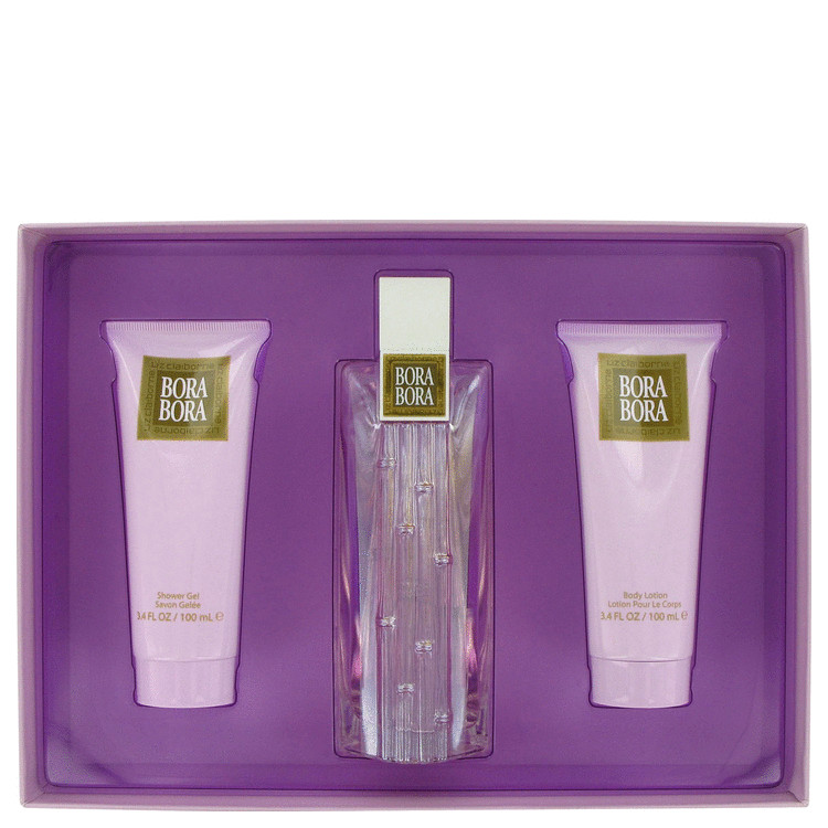 Liz Claiborne Bora -- Gift Set - 3.4 oz Eau De Parfum Spray + 3.4 oz Body Lotion + 3.4 oz Body Wash For Women