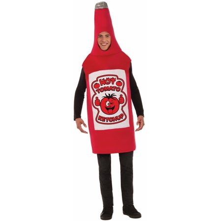 Ketchup Red Squeeze Bottle Adult Funny Food Halloween - Halloween Foods For Work
