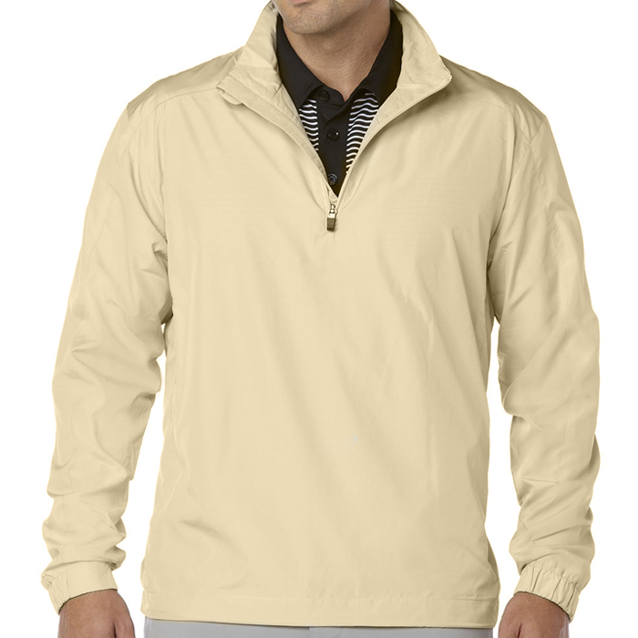 Men's Microfiber 1/4 Zip Windshirt Jacket Silver Lining S