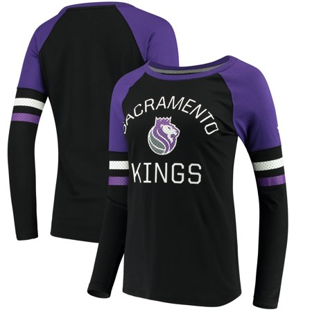 on sale cf492 37e2b Sacramento Kings Fanatics Branded Women's Iconic Long Sleeve T-Shirt -  Black/Purple