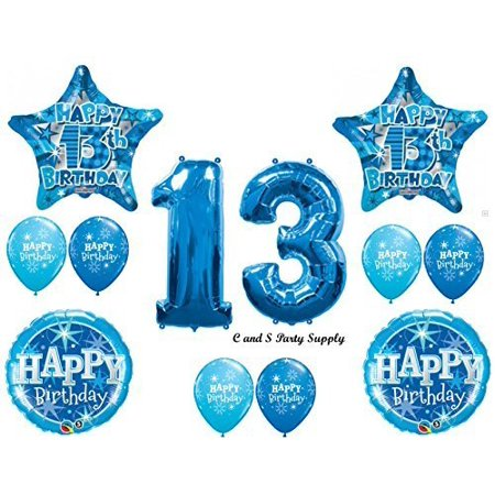 BOYS 13TH Teenager Balloons Birthday Party Decoration Supplies Thirteen Girl By Anagram