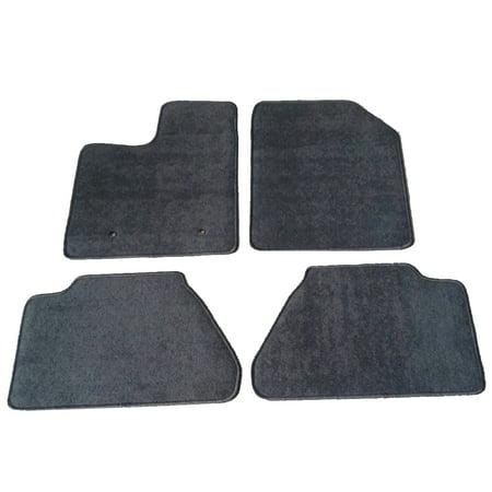 Fits 07-13 Ford Edge Floor Mats Carpet Front & Rear Gray 4PC - Nylon