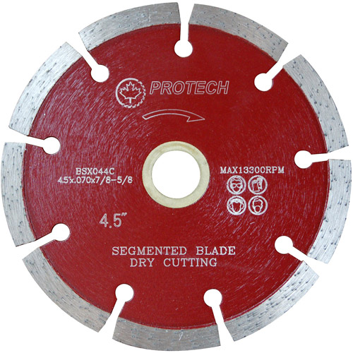 "Protech BSX044C 4.5"" Segmented General Purpose Premium Blade"