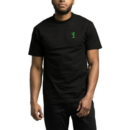 Retrofit Mens Alien Patch Crew Neck Short Sleeve Tee (Black, X-Large) - Aliens From Men In Black