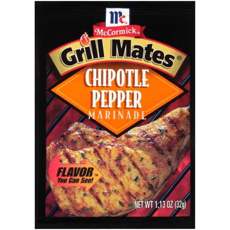 (4 Pack) McCormick Grill Mates Chipotle Pepper Marinade Mix, 1.13 oz - Mccormick White Pepper