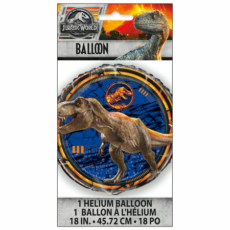 Foil Jurassic World Balloon, 18 in, 1ct