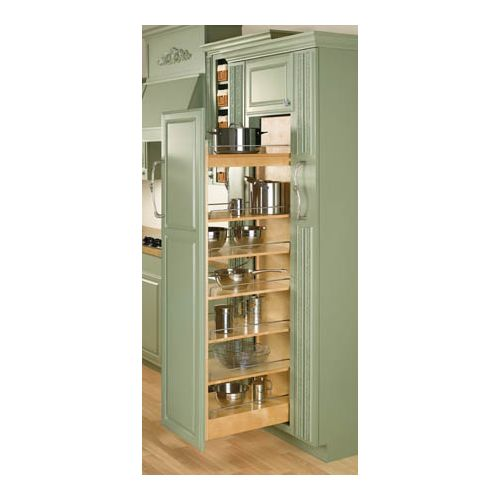 "Rev-A-Shelf 448-TP58-8-1 448 Series 8"" Wide by 58"" Tall Pull Out Pantry Cabinet Organizer with Six Adjustable Shelves"