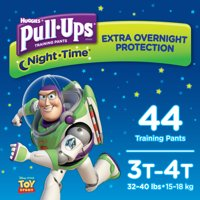 Pull-Ups Boys' Night-Time Potty Training Pants, Size 3T-4T (Choose Count)