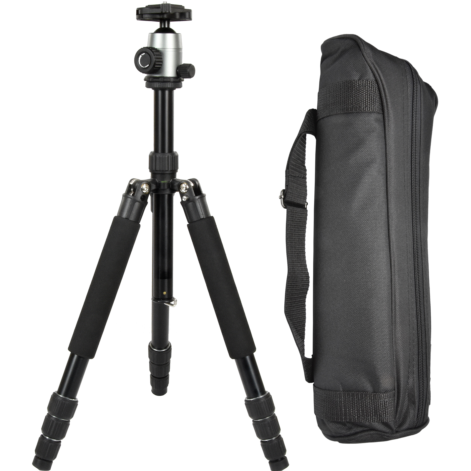 "Terra Firma T-AL400 55"" Aluminum 4-Section Tripod with BH100 Ball Head & Case (Silver)"