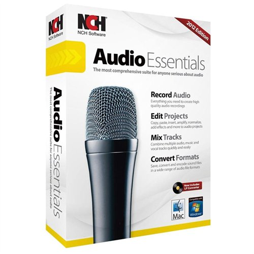 Nch Software RET-AE001 Audio Essentials Suite Win Mac Crom Record Edit Mix Convert Audio Files