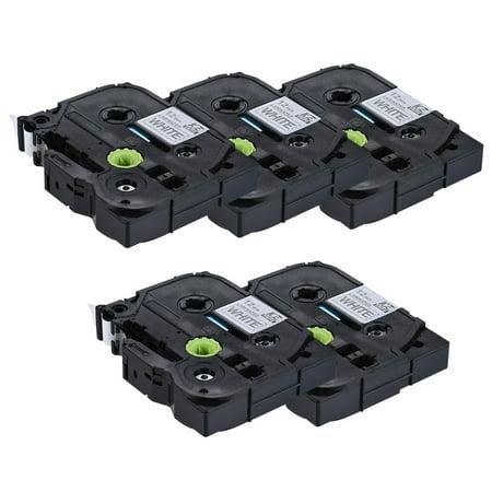 10pcs Bande d'Etiquettes Laminée Noir sur Blanc Compatible pour imprimante d'étiquettes P-touch Brother PT-1010 / PT-2100 / PT-18R / PT-E200 / PT-9500 12mm * 8m - image 3 de 7