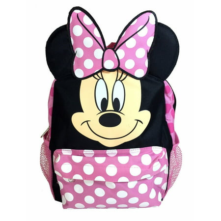 16in Disney Minnie Mouse 3D Happy Face Ears Large School - Minnie Mouse Face