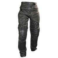 Xelement B7466 'The Racer' Mens Black Cowhide Leather Racing Pants with X-Armor Protection Black