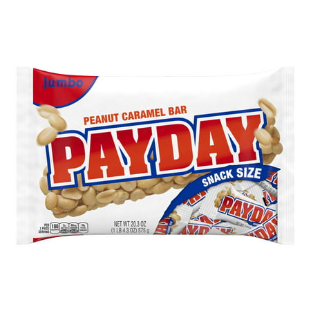 Payday Peanut Caramel Candy Bars Snack Size, 20.3 Oz. - Non Candy Halloween Snacks