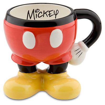 Disney Parks Ceramic Best of Mickey Mouse Body Parts Pants Coffee