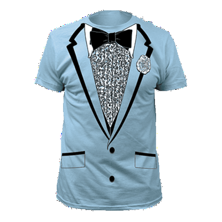 Light Blue Tuxedo T-Shirt Costume Harry Dunne Dumb And Dumber Prom Tux Movie - Harry Hamlin Halloween T Shirt