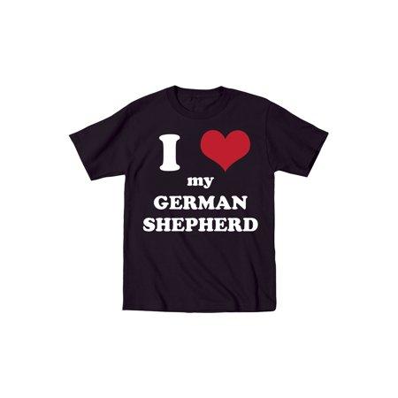 (I Heart My German Shepherd Cute Fun Dogs Animals-Toddler T-Shirt)