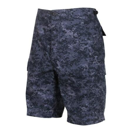 Rothco Military B.D.U Camouflage Cargo Shorts, Midnite Digital Camo, 3XL