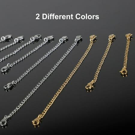 50 pcs x Silver Extension 5cm Gold Necklace Bracelet Jewellery Extender Chain