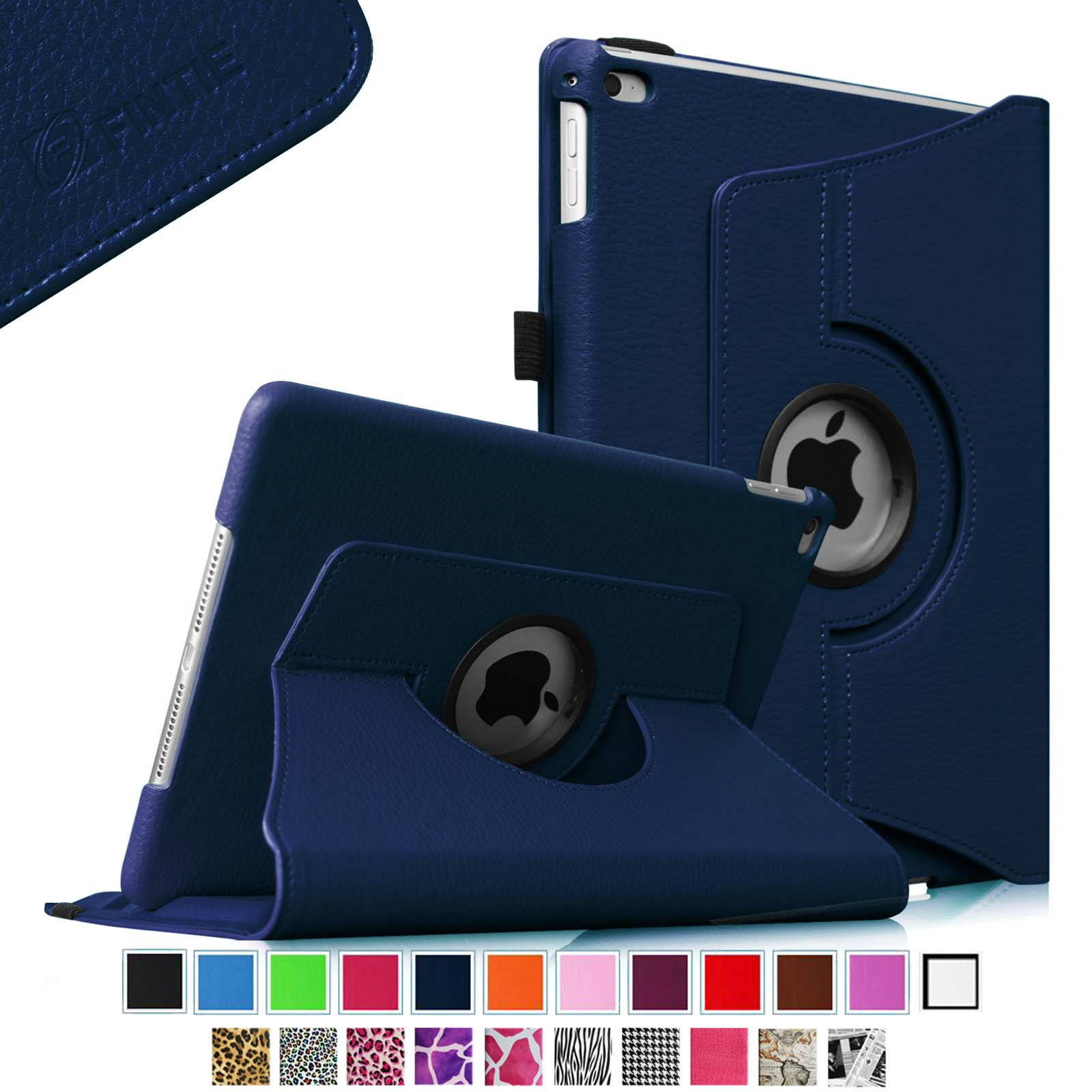 Fintie iPad Air 2 Case - 360 Degree Rotating Stand Cover Auto Sleep / Wake Feature, Navy