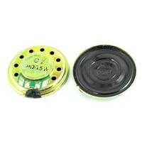 Unique Bargains 2Pcs 20mm Dia Magnet Speaker Loudspeaker 8 Ohm 0.5W for Radio Interphone