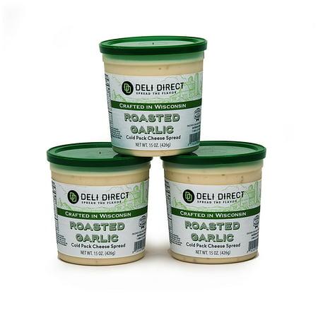 Deli Direct Spread \'Um Roasted Garlic Cheese Spread, 45 oz Garlic Cream Cheese