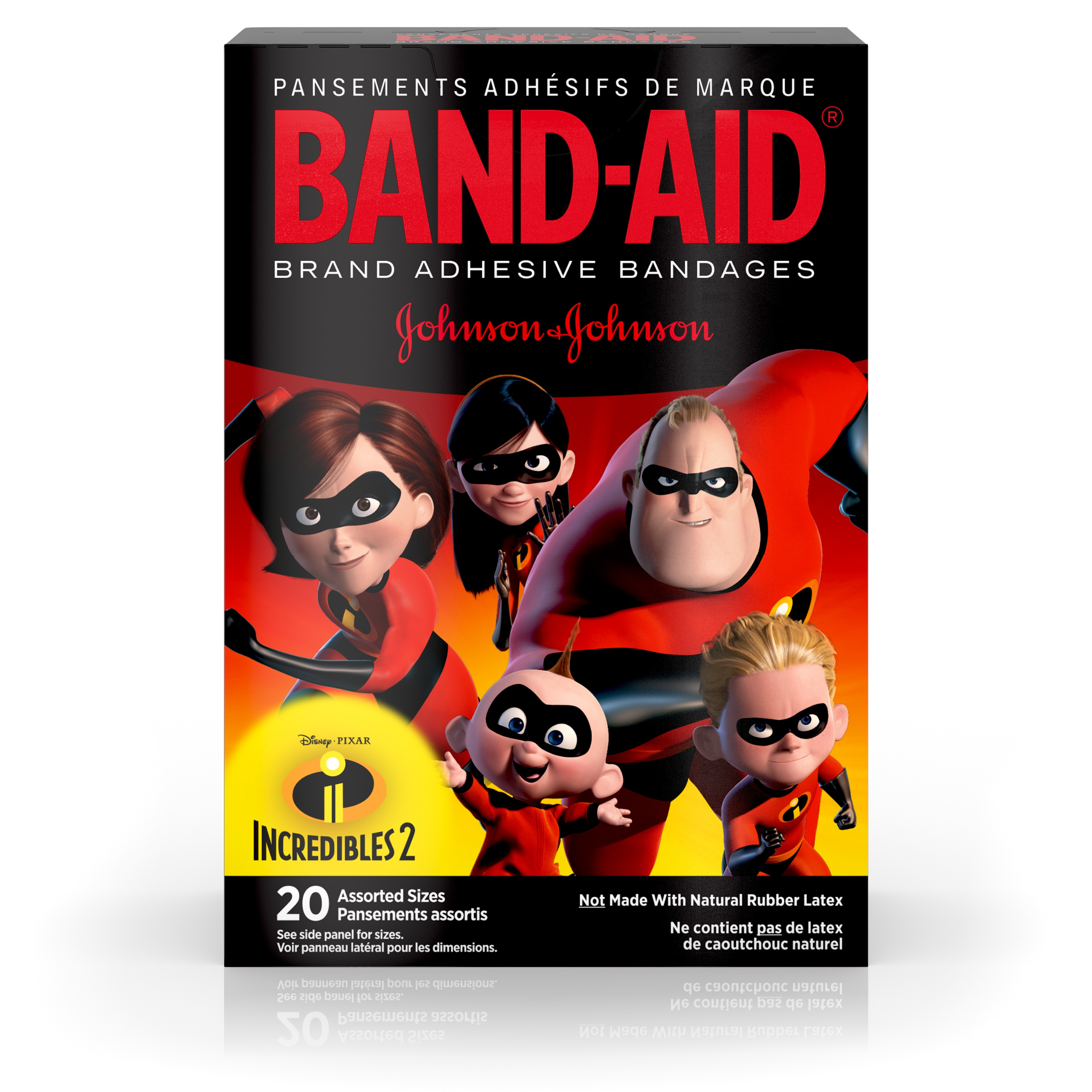 Band-Aid Brand Adhesive Bandages, Incredibles 2, Assorted Sizes 20 ct