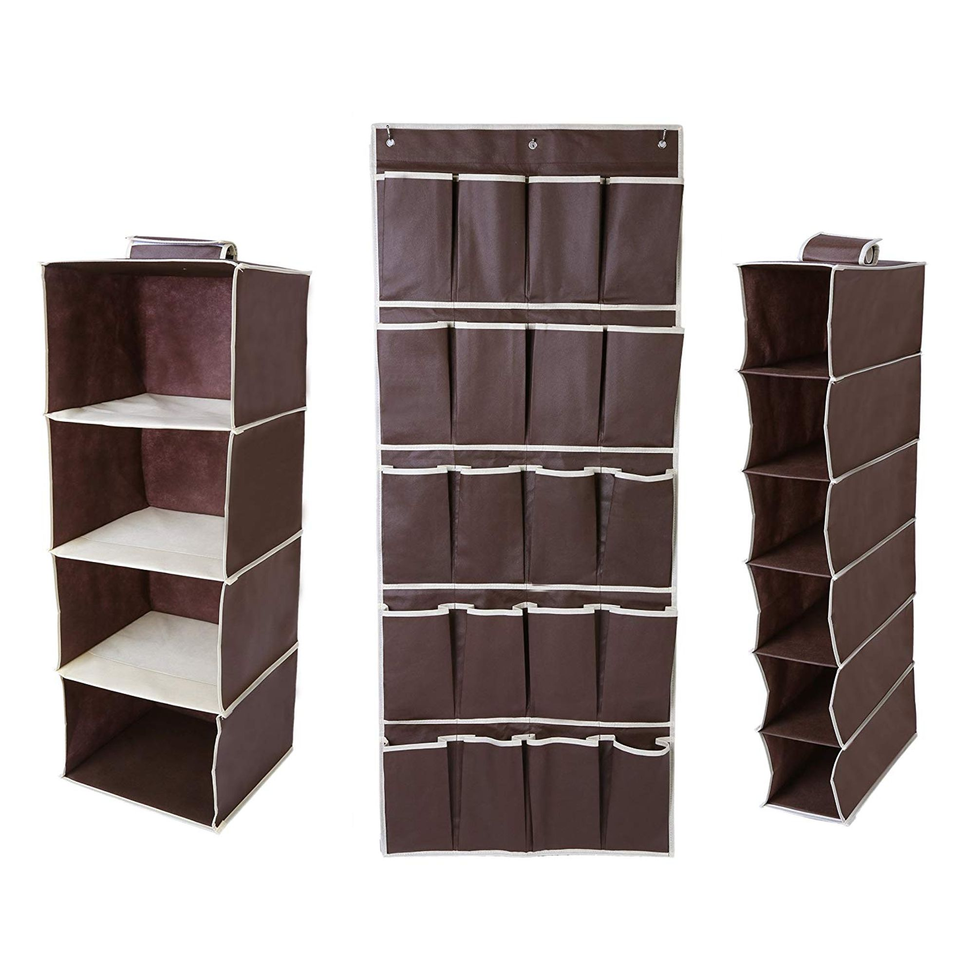 20 Pouch Over Door Shoe Organiser Storage Tidy Rack Space Saver Hanging  Shoes