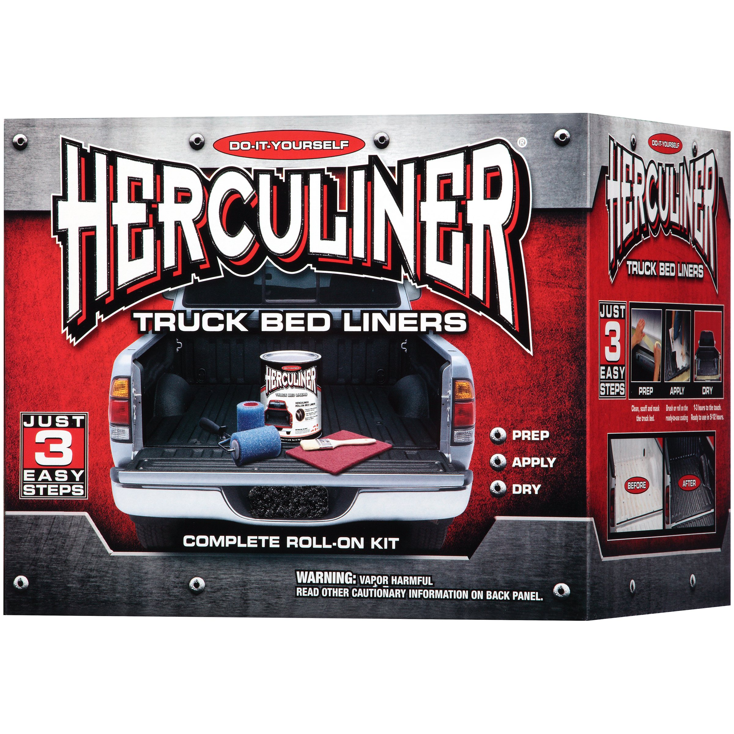 Herculiner® Complete Roll-On Truck Bed Liner 6 pc Kit