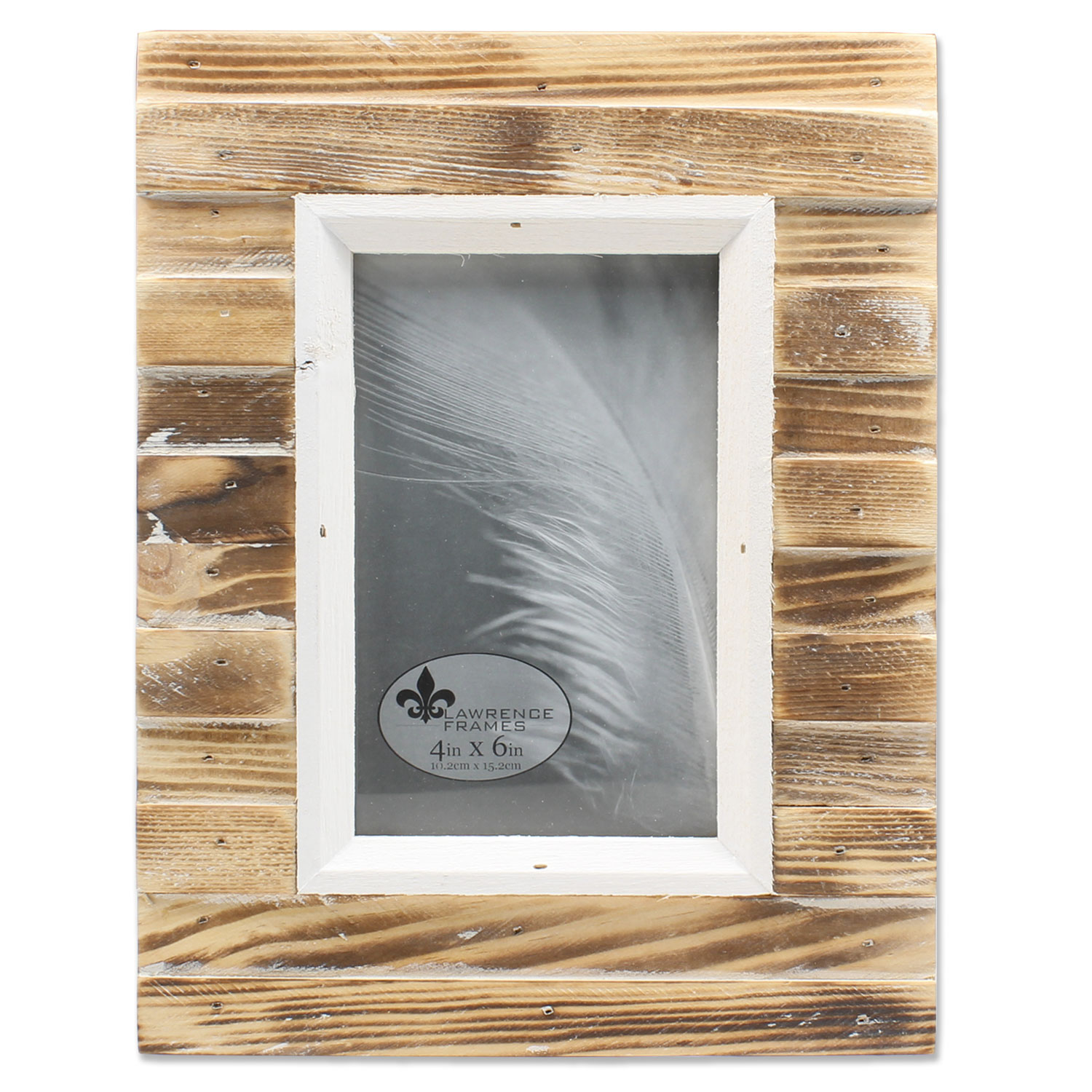 4x6 Natural Weathered Wood Picket Fence Picture Frame by Lawrence Frames