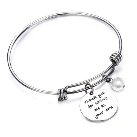 Stepmom Gift Foster Mom Gift Thank you For Loving Me as Your Own Bracelet Gift for Stepmom of The Bride](Mother Of Bride Gifts)