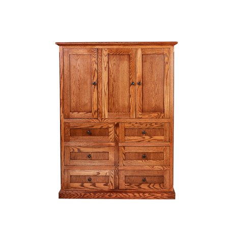 Forest Mission Ten Drawer Armoire Four Hidden Drawers