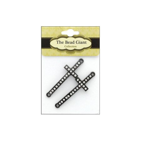 The Bead Giant Bead Cross Slim 2pc Gunmetal (Gunmetal Multi Bead)