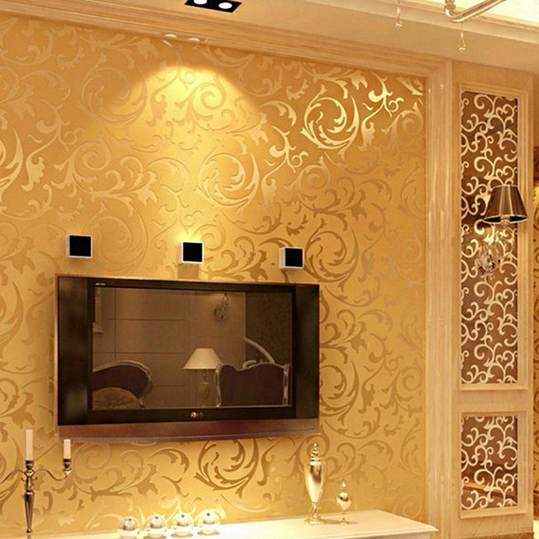 10 x 0.53m 3D Non-woven Wall Sticker Adhesive Wall Paper Wallpaper for Bedroom Home Wall Decor FSBR