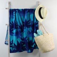 Mainstays Beach Towel, Sunset Palm Print