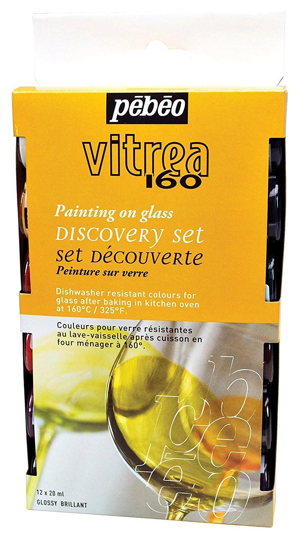 Peinture Pour Lave Vaisselle vitrea 160 discovery set of 12 assorted 20ml glossy glass paint colors, the  vitoria 160 discovery collection boxed set of glossy colors includes 12