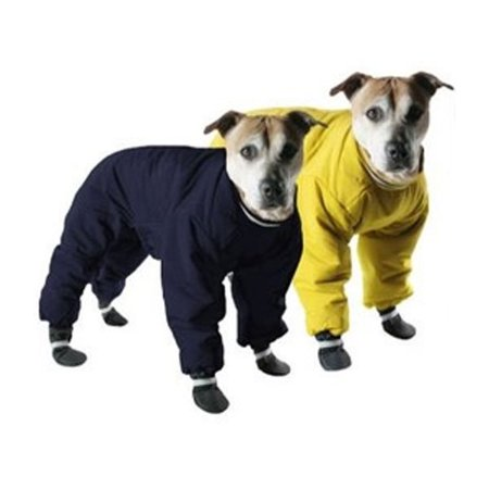 002125 Muttluks Four Legged Nylon Reversible Snowsuit, Yellow/Black, 10