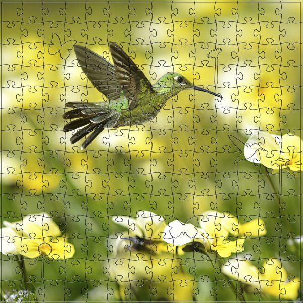 Zen Art & Design Artisanal Wooden Jigsaw Puzzle, Summer Hummingbird, Medium by