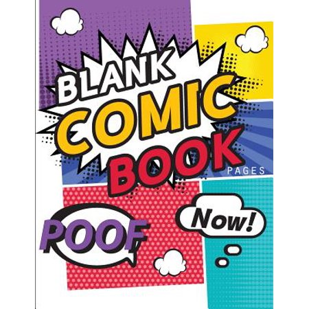 Blank Comic Book Pages : Draw Your Own Comics with Variety of Templates 110 Pages, 8.5 X 11 Inches.Blank Comic Books Panel for Kids - Comic Book Banner