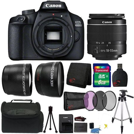 Canon EOS 4000D 18MP Wi-Fi / NFC DSLR Camera + 18-55mm Lens + 8GB Ultimate Accessory