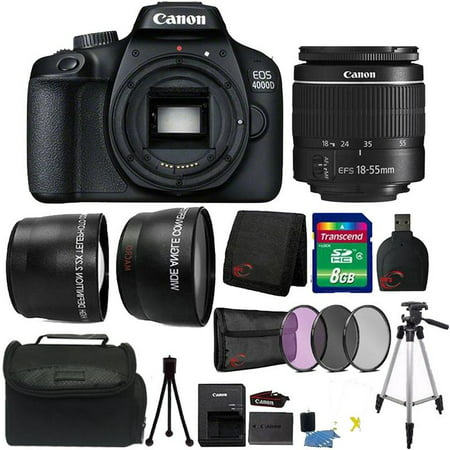 Canon EOS 4000D 18MP Digital SLR Camera 18-55mm Lens Premium Kit