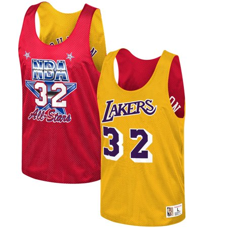buy popular f4dea 6a95d Magic Johnson Los Angeles Lakers Mitchell & Ness All-Star Game Reversible  Mesh Tank Top - Gold/Red