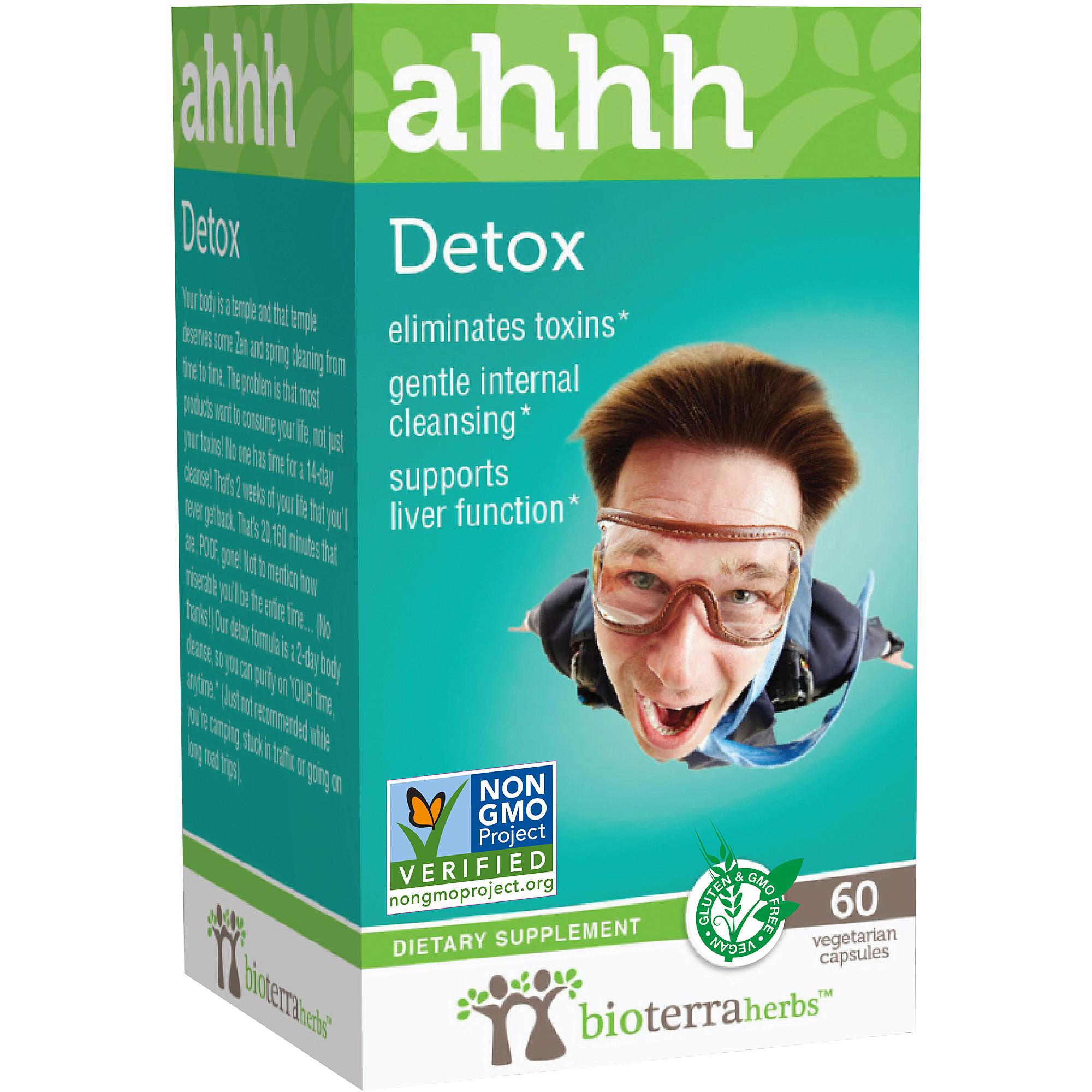 BioTerra Herbs Detox ahhh Dietary Supplement Vegetarian Capsules, 60 count