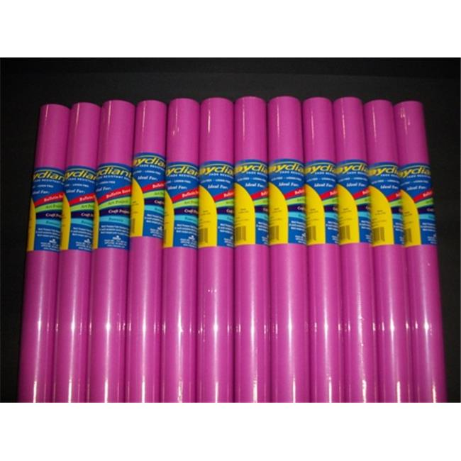 RiteCo Raydiant 80161 Riteco Raydiant Fade Resistant Art Rolls Magenta 24 inch X 12 Ft.  12 Pack