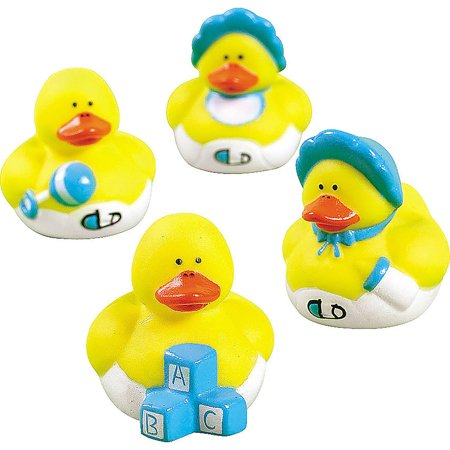 24 Mini Baby Boy Rubber Duck Duckys Blue Shower Favors - Rubber Duckies Baby Shower Decorations