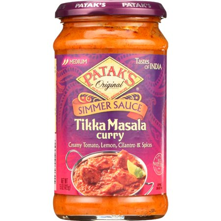 Cherry Chicken Sauce ((2 Pack) Patak's Tastes Of India Simmer Sauce, Tikka Masala Curry, 15-Ounce)