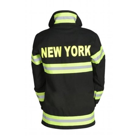Aeromax FB-NY-AD-SM Adult Fire Fighter New York Suit Small -  Black